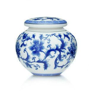 景德鎮精品 優質青花藤陶瓷茶葉罐