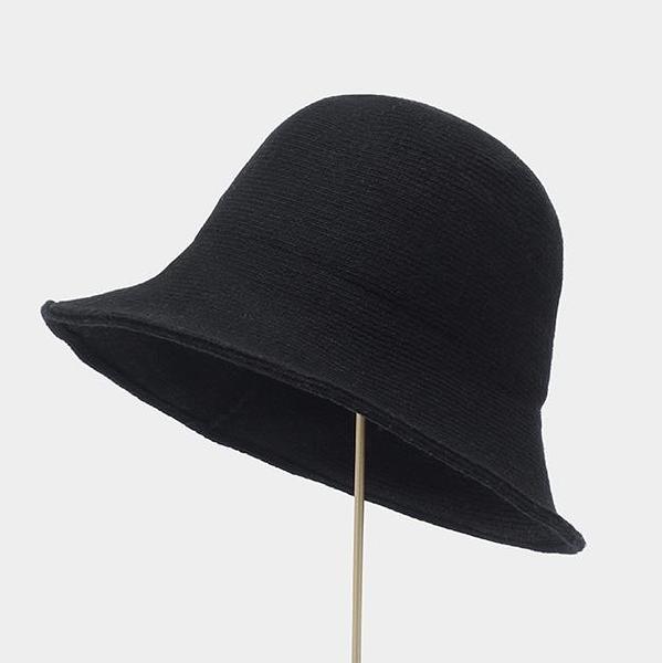 漁夫帽女百搭羊毛呢盆帽韓版秋冬季毛線針織帽【聚寶屋】