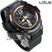 Lotus 時尚錶 雙環電子雙顯 數字錶 女錶/男錶/學生錶/中性錶/運動錶 黑色/玫瑰金 LS-3255-01黑金