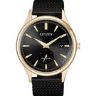 CITIZEN 星辰 光動能小秒針手錶-黑x金框/40mm BV1116-80E