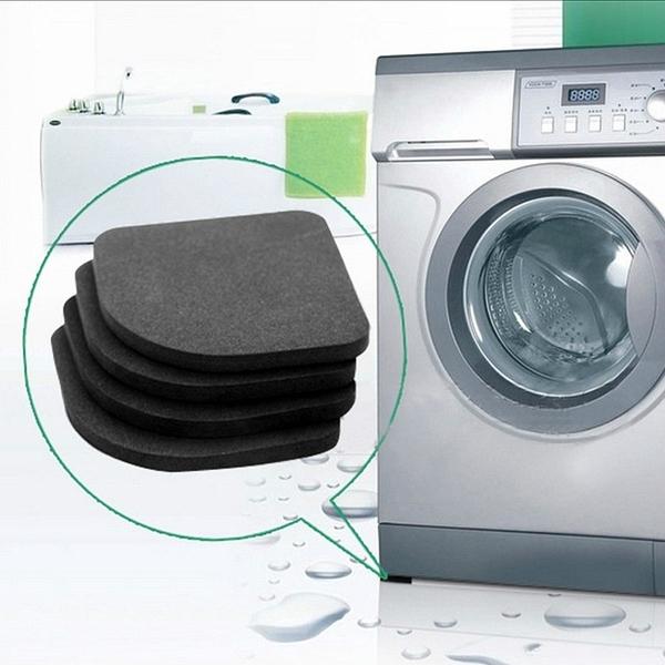 日本減震墊4片裝 洗衣機墊減震墊電器防震墊海綿墊腳 家具腳墊子冰箱墊 沙發墊 地板防刮墊止滑