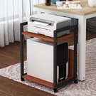 主機架 家用打印機置物架辦公室多層落地台式電腦主機托架可移動托盤支架