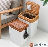 帶密封圈加大加厚寵物儲糧桶15kg狗糧貓糧桶密封【淘夢屋】
