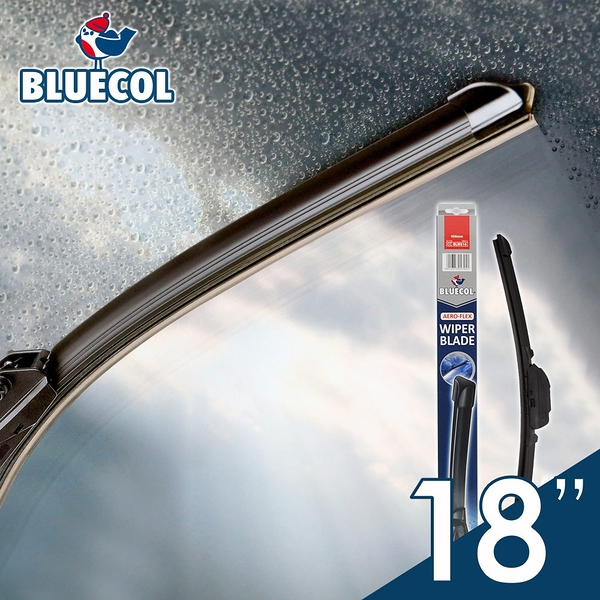 BLUECOL藍雀Aero-Flexible高彈性氣動軟骨雨刷18吋(455mm)