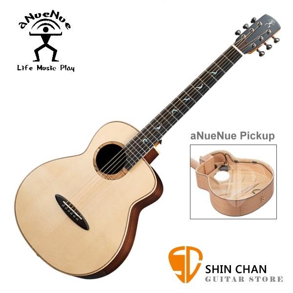 aNueNue MB200E 飛鳥 36吋小吉他 可插電Air Air 雙系統拾音器 雲杉面板/印度玫瑰木全單板 附多樣配件