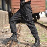 戰術褲 戶外特種兵黑色保安作訓服長褲男 夏季戰術褲軍褲工裝褲寬松耐磨