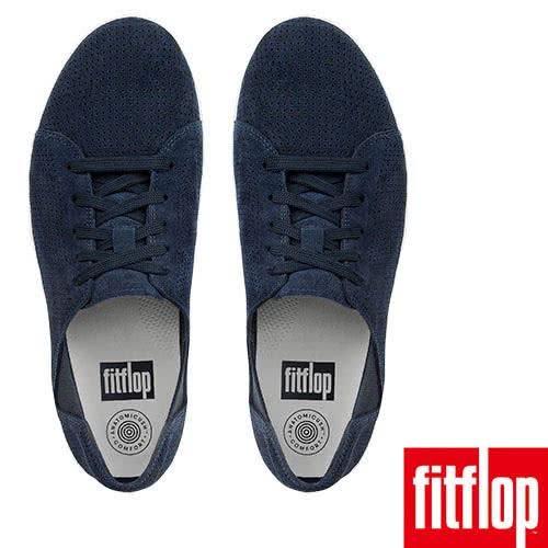 【FitFlop】F-SPORTY TM PERF SUEDE LACE-UP SNEAKER(午夜藍)