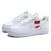 NIKE 休閒鞋 WMNS AIR FORCE1 WORLDWIDE 白 綠紅 地球 刺繡LOGO 女 (布魯克林) CT1414-100