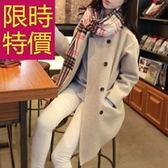 毛呢外套-簡單秋冬精緻氣質女風衣4色61n39[巴黎精品]