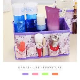 【小麥購物】可折疊化妝品收納盒 化妝品收納【Y211】 桌面收納 整理盒 無紡布 可折疊 雜物整理