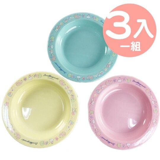 小禮堂 角落生物 日製 塑膠圓盤組 點心盤 蛋糕盤 咖啡盤 塑膠盤 (3入 糖果) 4970825-12851