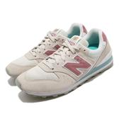 New Balance 休閒鞋 NB 996 米白 粉紅 女鞋 麂皮 復古慢跑鞋 運動鞋 【PUMP306】 WL996WEB
