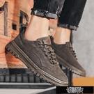 秋季新款馬丁靴男士工裝鞋英倫風低幫短靴男休閒潮流沙漠皮鞋【全館免運】