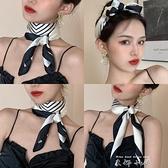 絲巾女春秋薄款長條小方巾百搭裝飾圍巾護頸韓國領巾網紅發帶圍脖