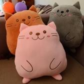 可愛卡通喵星人大臉貓毛絨玩具貓貓玩偶貓咪靠墊抱枕娃娃生日禮物【快速出貨】