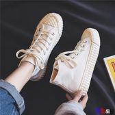餅乾鞋 高幫 餅干 帆布鞋 韓版 布鞋