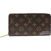 【Louis Vuitton 路易威登】M41896 ZIPPY 新版經典花紋拉鍊長夾(紅)
