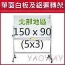 【耀偉】單面白板及鋁迴轉架150*90 ...