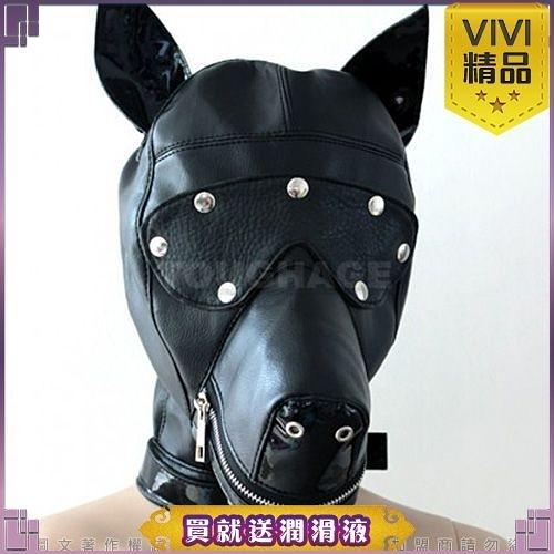 情趣用品【ViVi精品】美國駭客Toughage-Dog Face Hood with Blindfold(PU) 狗與眼罩的面孔敞篷(PU)