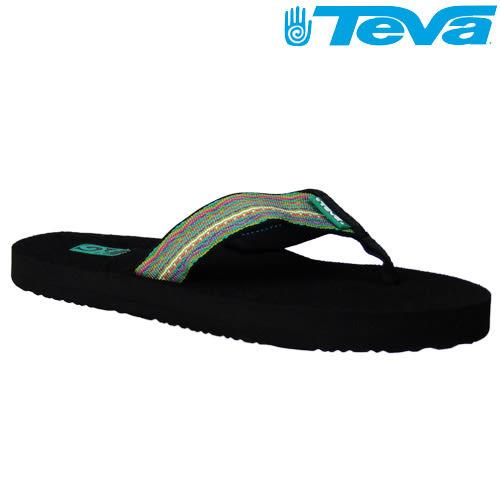 TEVA《女款》超輕量舒適記憶鞋床織帶夾腳拖 Mush 2 - 邊疆綠