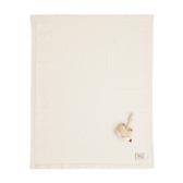 【奇哥】有機棉針織棉毯禮盒-條紋薄款(毯子+安撫玩偶)