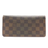 LOUIS VUITTON LV 路易威登棋盤格二折長夾 N60017 Brazza 【二手名牌BRAND OFF】
