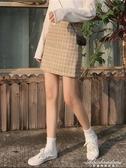 新款格子短裙女裝半身裙秋冬高腰裙子a字裙配毛衣潮 黛尼時尚精品