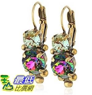 [美國直購] Sorrelli Crystal Patina Ornate Crystal Rounds French Wire Drop Earrings 耳環