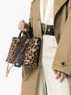 ■專櫃55折■全新真品■Dolce & Gabbana 豹紋迷你 Capri 金鍊肩背2用包