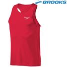 【BROOKS】男款競賽路跑快排運動背心 - 紅