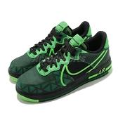 Nike 休閒鞋 Air Force 1 React QS 黑 綠 男鞋 大勾勾 緩震中底材質 運動鞋 【ACS】 CW3918-001