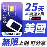 AT&T 美國無限通話上網型 可分享10GB超大流量 25天