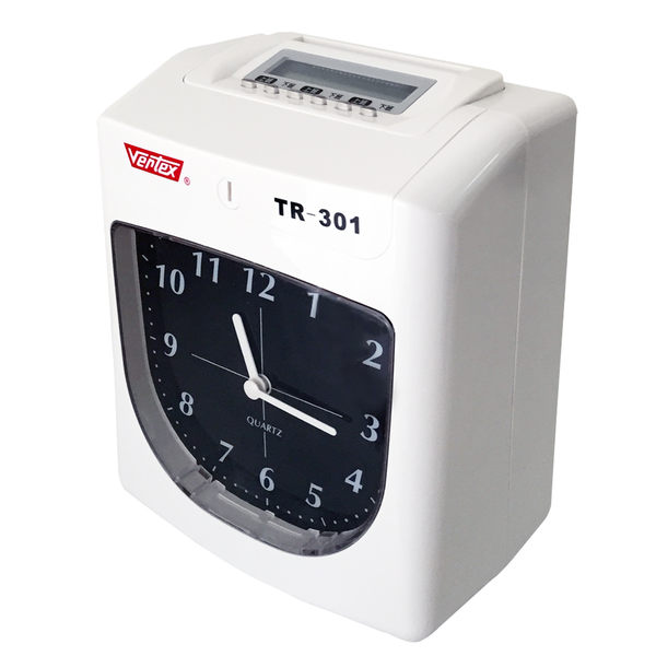 Vertex世尚 TR-301 六欄位點陣式打卡鐘【送考勤卡+卡架】