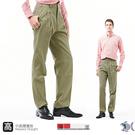 【NST Jeans】深卡其 細純棉 打摺休閒褲(中高腰寬版) 002(8745) 夏季薄款