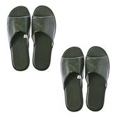 (組)現代皮拖鞋-綠L x2