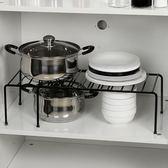 鍋架可伸縮廚房單層置物架櫥櫃分層收納架碗盤碗碟調味瓶調料架