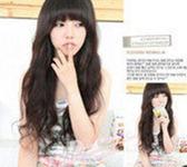 【WASK】 W201 微捲長髮假髮仿真髮齊劉海全頂式高溫絲假髮