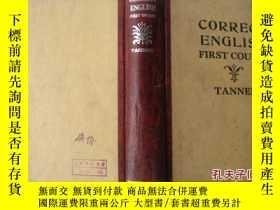 二手書博民逛書店民國外文書罕見CORRECT ENGLISH First Cou