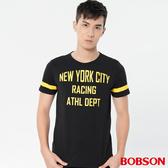 【BOBSON】男款運動風印圖上衣(28026-88)