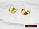 585K(14K)金 義大利進口  黃K金, 玫瑰金 時尚簡約 造型 耳釘 耳環