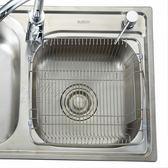 水槽瀝水籃不銹鋼瀝水架洗菜籃洗菜盆籃廚房配件、水藍、淘菜架限時八九折