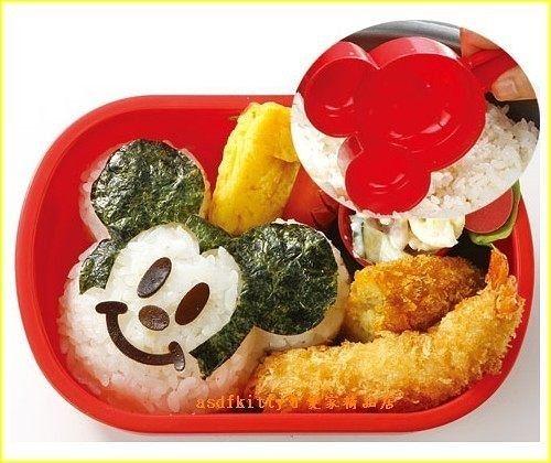 asdfkitty可愛家☆米奇手把立體臉型飯糰模/壽司模型-鳳梨酥-月餅-綠豆膏都可用-日本製
