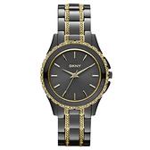 DKNY 浪漫星河晶鑽時尚腕錶(鐵灰金)