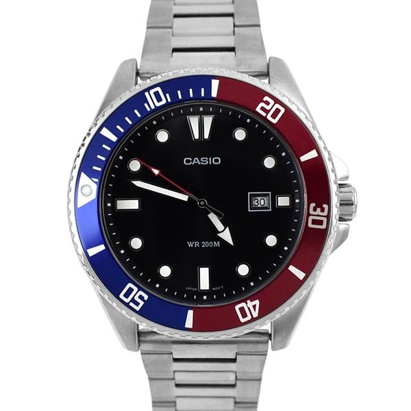 CASIO手錶 水鬼運動時尚紅藍鋼錶NECE54