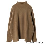 「Hot item」溫暖高領彈性針織上衣 - Green Parks
