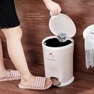 垃圾桶 歐式創意家用腳踏垃圾桶大號客廳臥室廚房衛生間塑料有蓋衛生桶筒RM