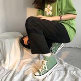 休閒鞋小白鞋 芥末綠高幫帆布鞋女新款正韓潮百搭學生板鞋