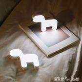 USB 創意鈴鐺狗小夜燈LED氣氛燈隨身小巧可愛USB充電觸控開關床頭燈 「潔思米」