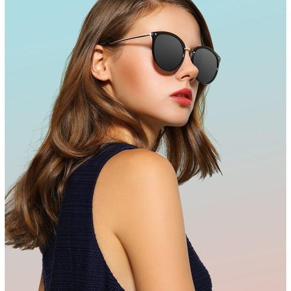 現貨-新款太陽眼鏡女防紫外線墨鏡圓臉時尚眼鏡女韓版潮 S48