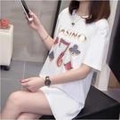 大碼衣著圓領上衣印花短袖T中大尺碼L-4XL大碼女裝短袖T卹R66-6282.胖胖美依